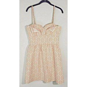 NWT KENSIE Spaghetti Strap Floral Orange Dress